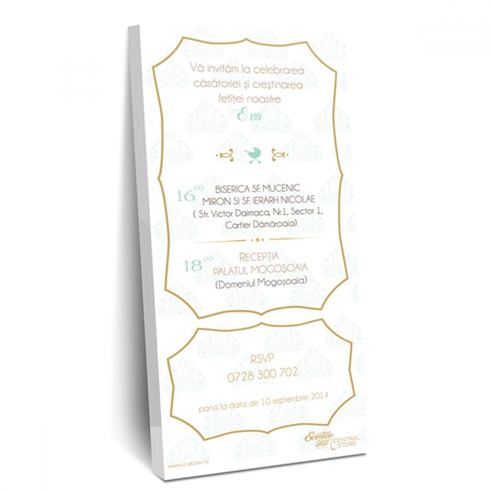 """Invitatie de nunta tip ciocolata """"Gold"""""""