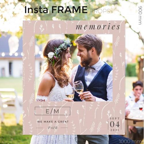 Rama petrecere nunta - InstaFrame - Pastel
