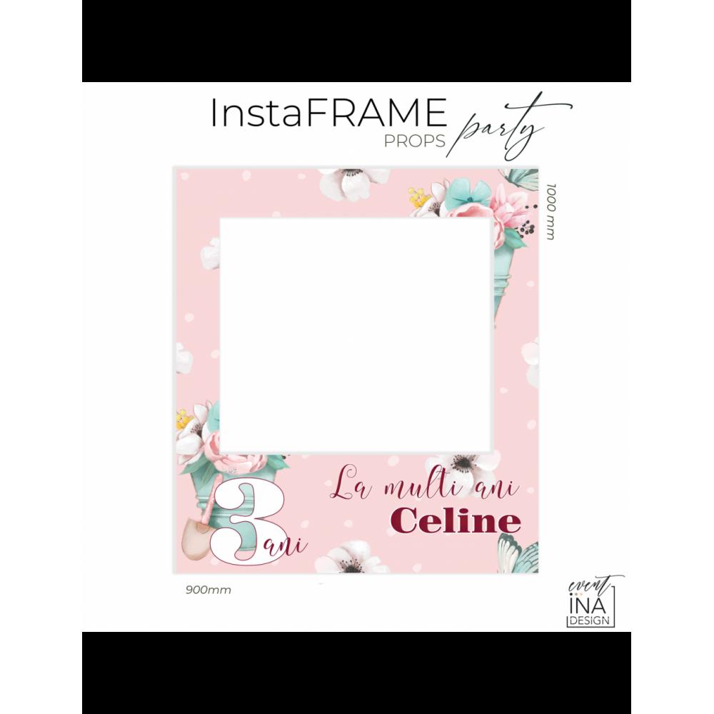 Rama petrecere nunta - InstaFrame - Flori