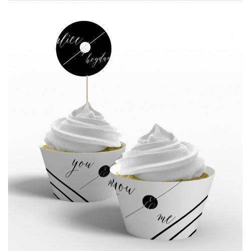 """Invelitoare cupcake """"Black and White"""""""