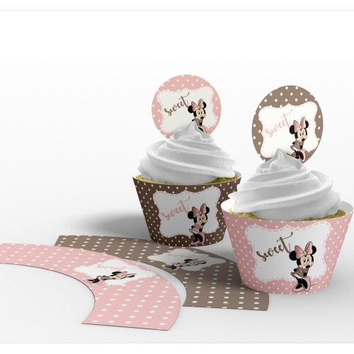 "Invelitoare cupcake ""Minnie"""