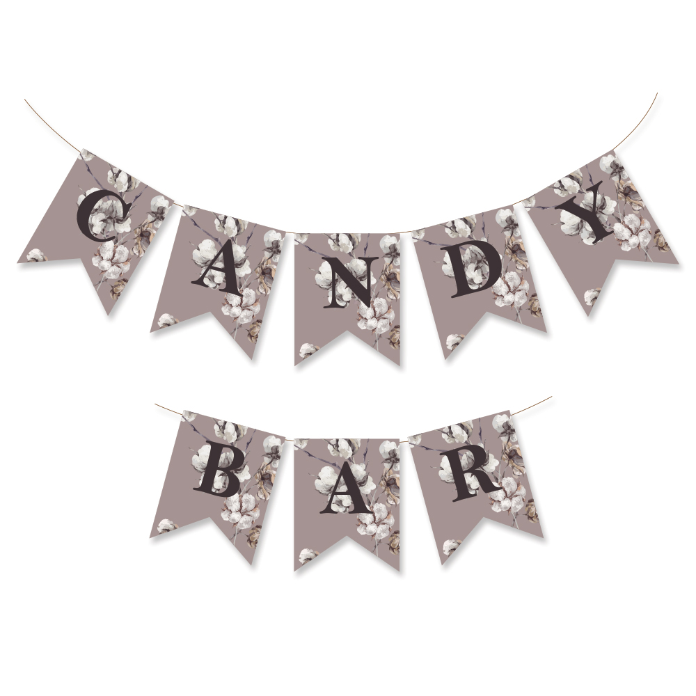 "Ghirlanda candy bar ""Coton"""