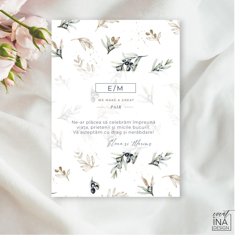 Invitatie de nunta  Masline