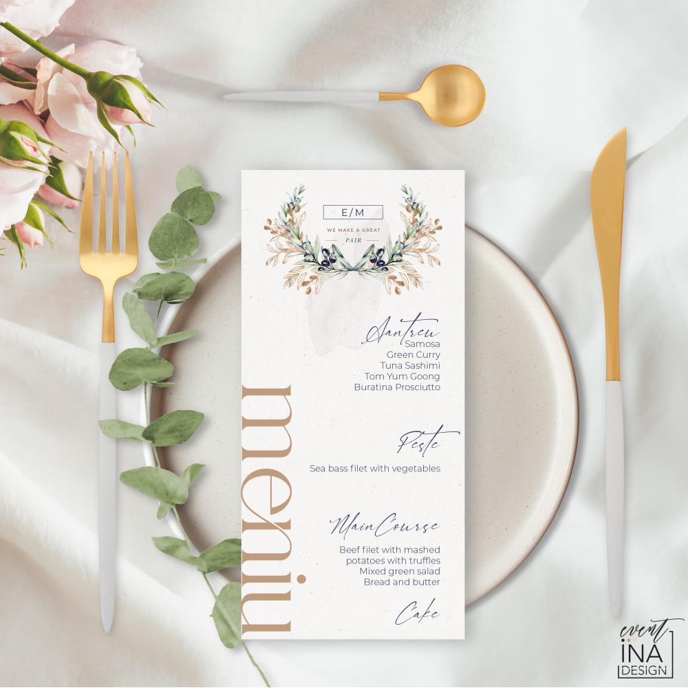 Meniu de nunta individual  Masline