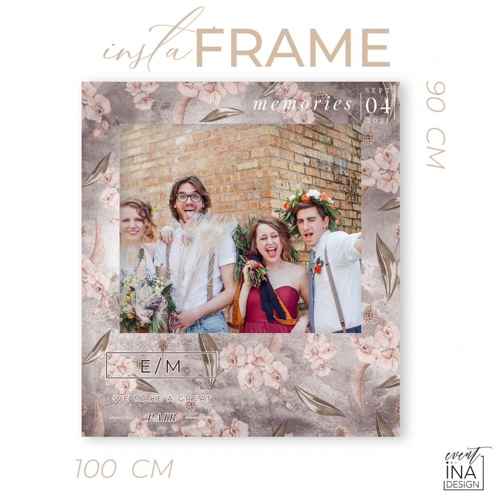 Rama petrecere nunta - InstaFrame - Dark Moon