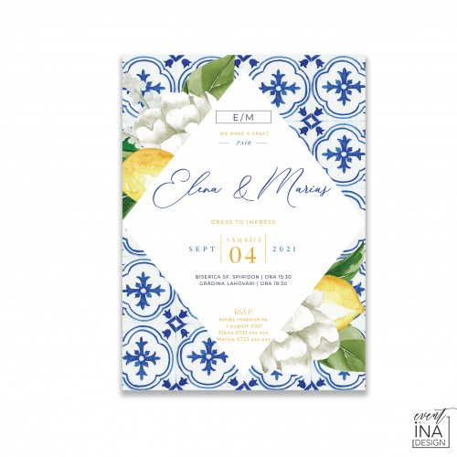 Invitatie de nunta  Mediteranean