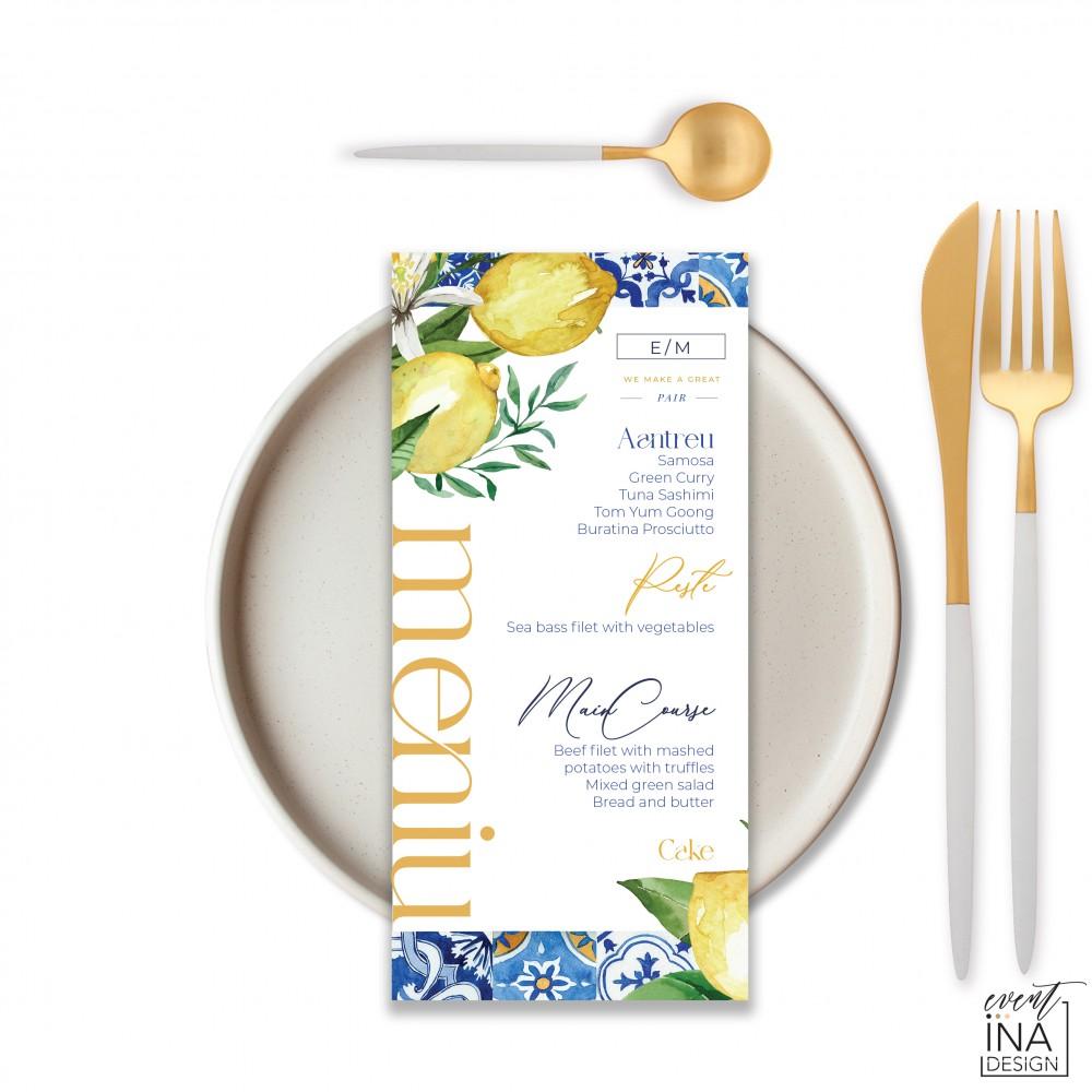 Meniu de nunta individual Mediteranean