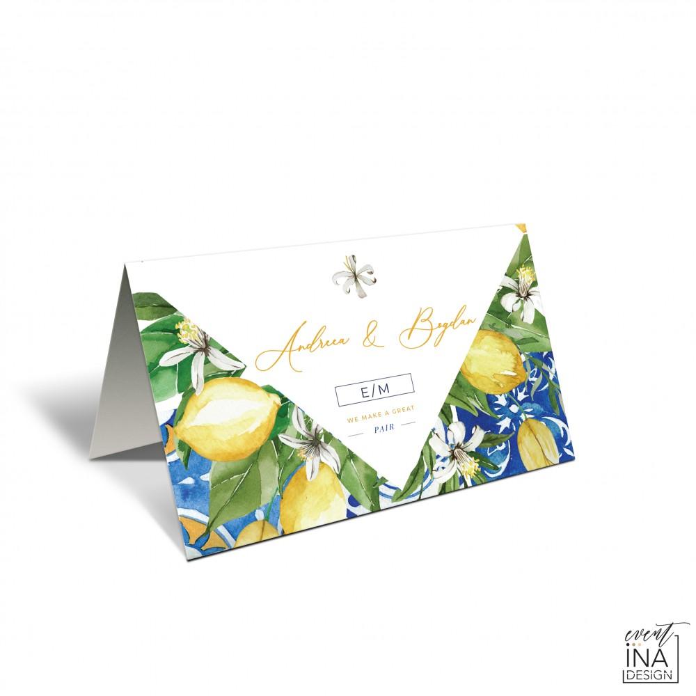 Placecard  de nunta Mediteranean