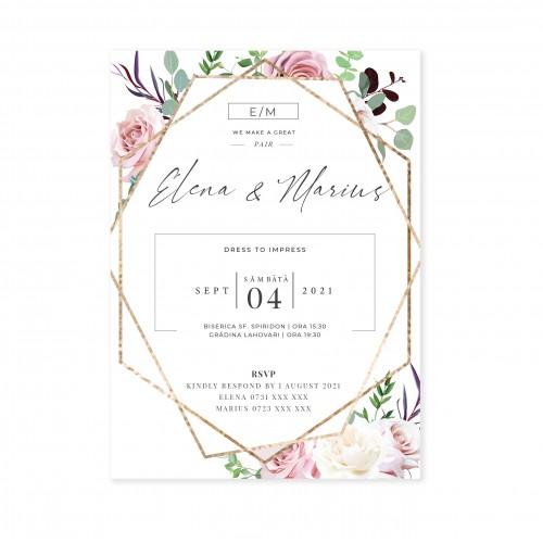 Invitatie de nunta | Flori si Bucurii