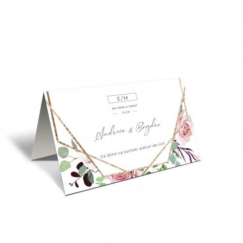 Placecard  de nunta | Flori si bucurii