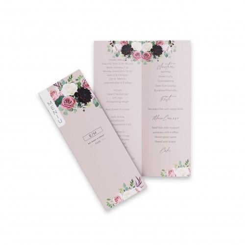 Meniu de nunta | Flori si bucurii