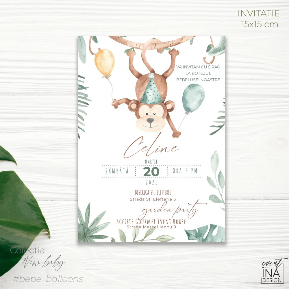 Invitatie de botez  Jungle