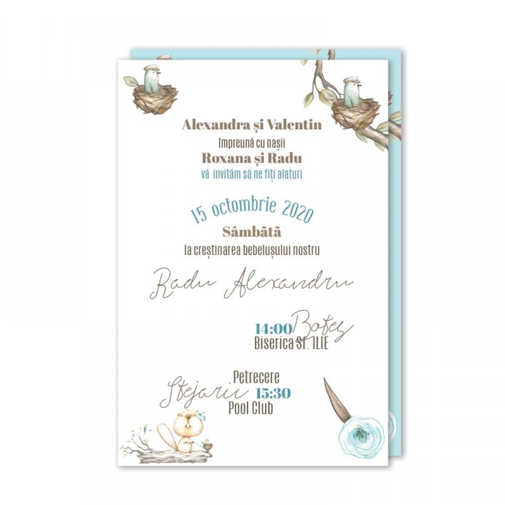 Invitatie de botez  online CASTOR