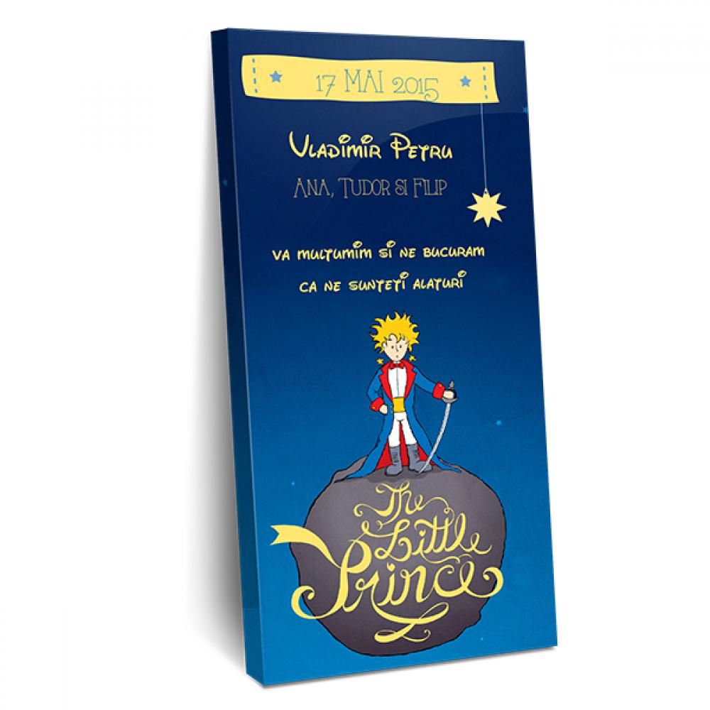 """Invitatie de botez tip cutie de ciocolata """"Le petit prince"""""""