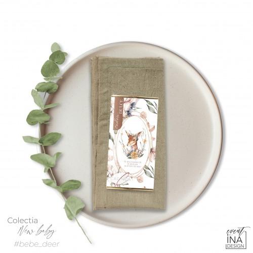 Marturie botez mini-ciocolata Caprioara