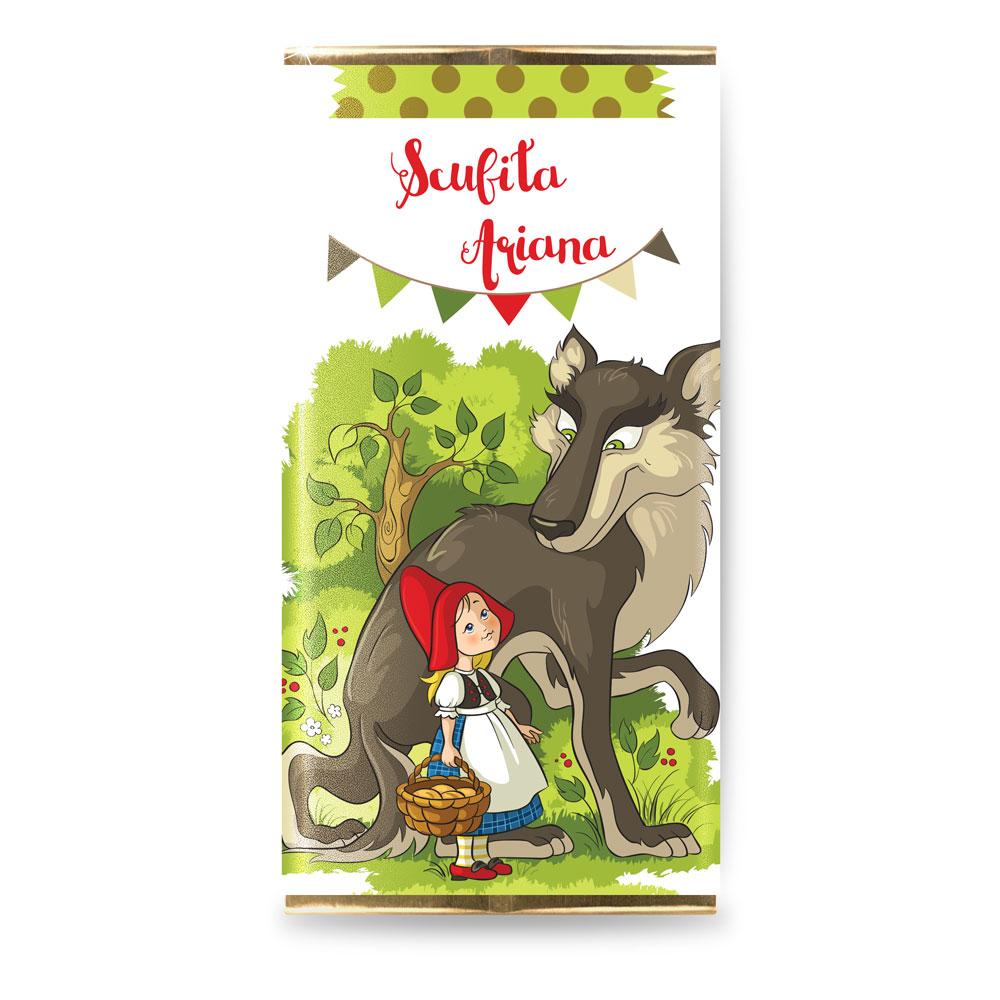"""Marturie botez mini-ciocolata """"Scufita rosie"""""""