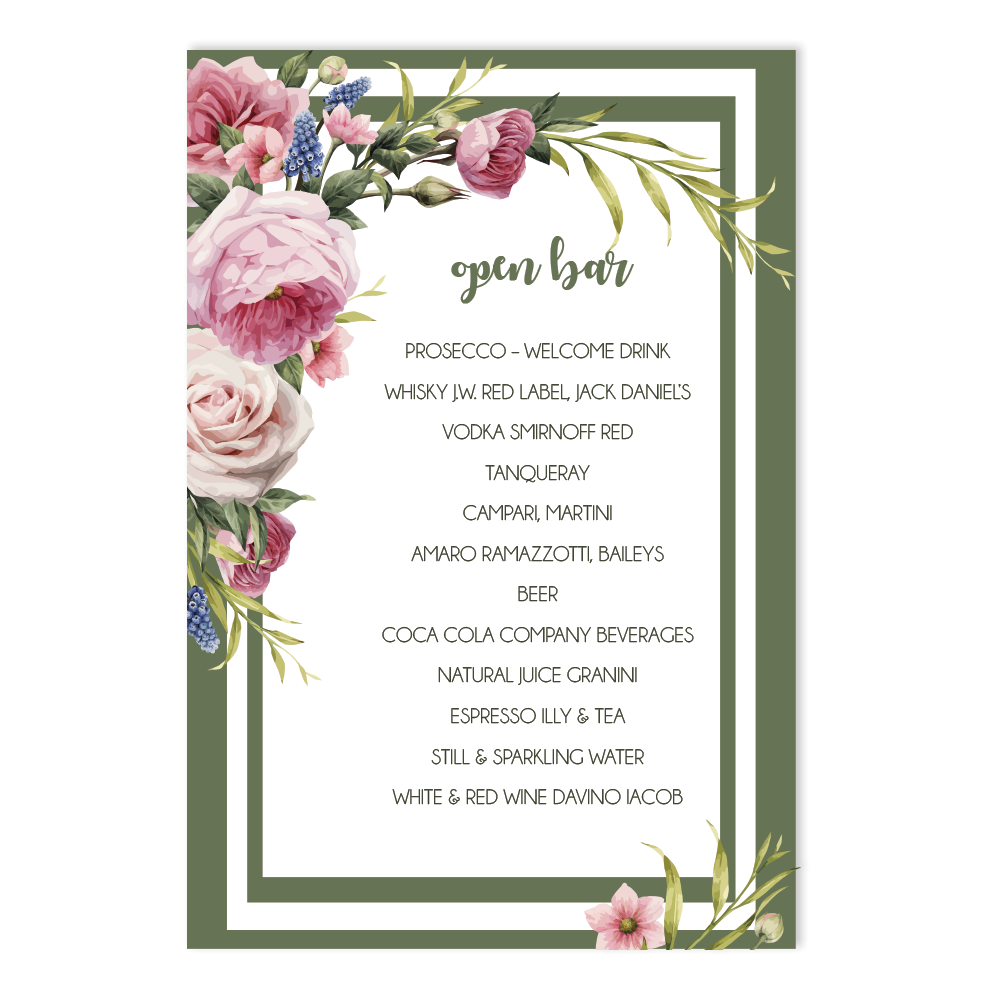 "Meniu ""Fresh Flowers"""