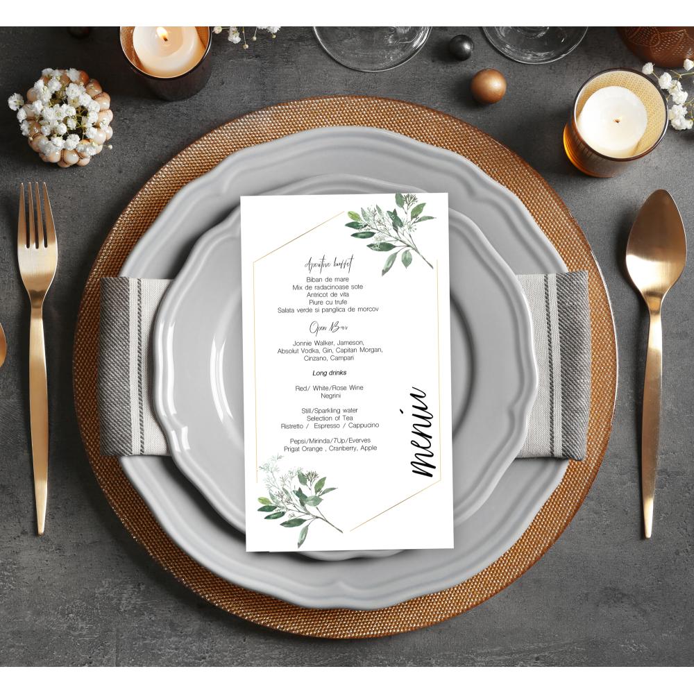 Meniu de nunta individual  Nature