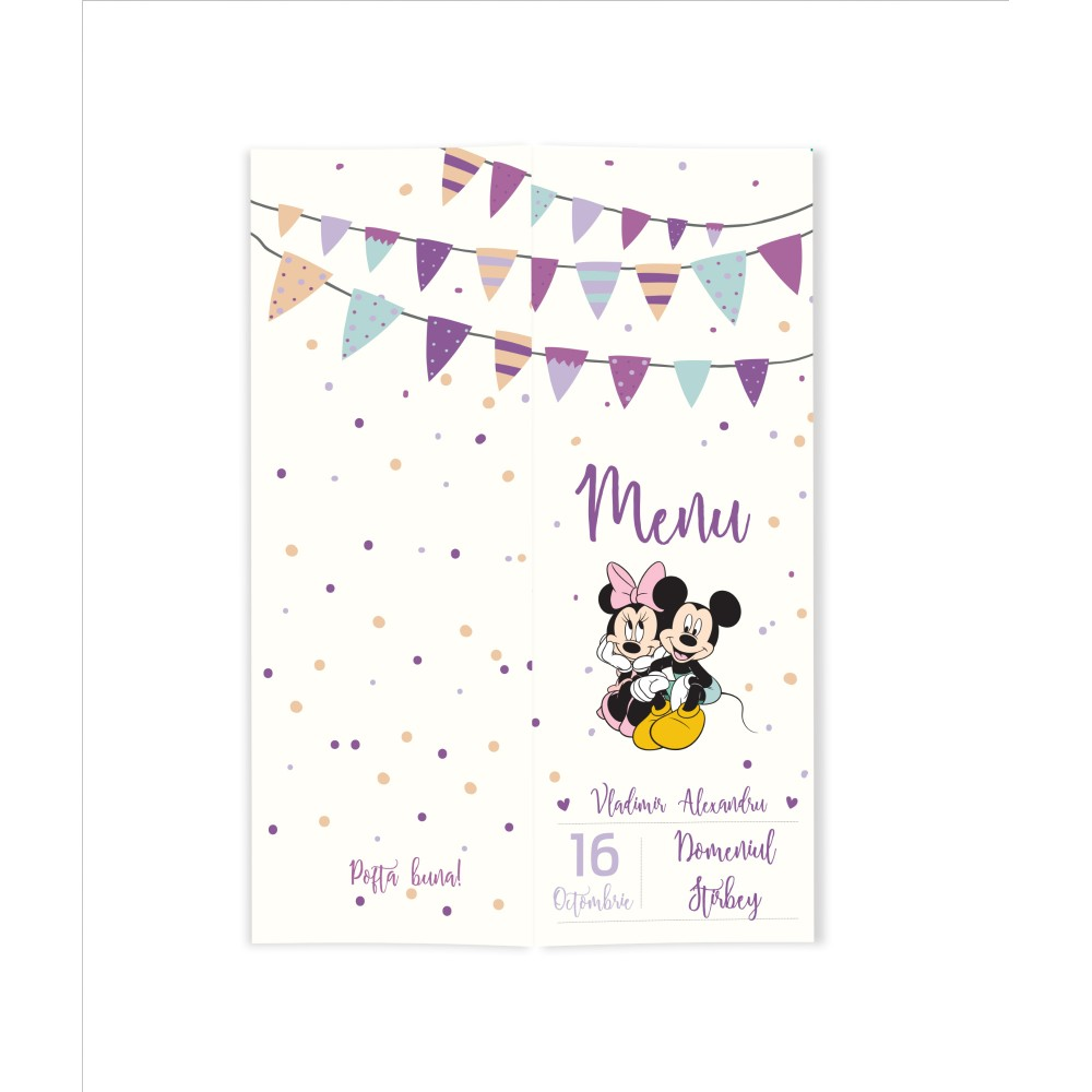 "Meniu ""Minnie and Mickey"""