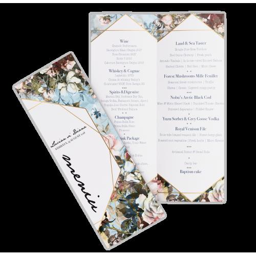 Meniu de nunta Vintage blue