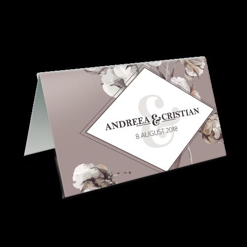 """Placecard de nunta """" Coton"""""""