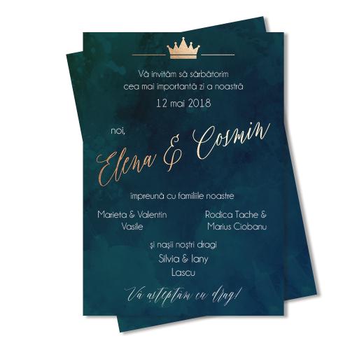 "Invitatie de nunta ""Forest Green"""