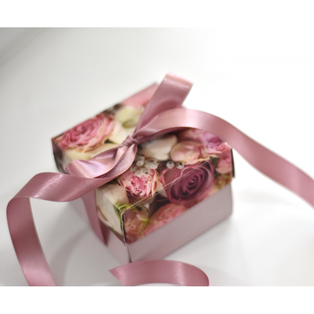 "Invitatie de nunta tip cutie ""Trandafir"""