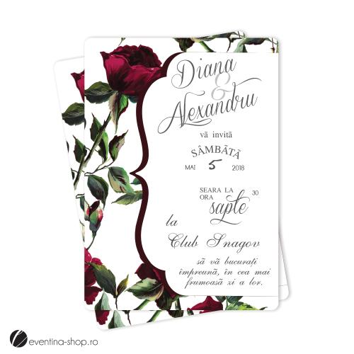 """Invitatie de nunta  """"Trandafiri"""""""