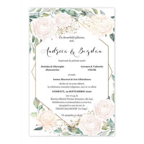 Invitatie de nunta  White Roses