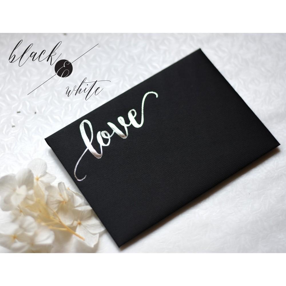 "Invitatie de nunta  ""Black & White"""