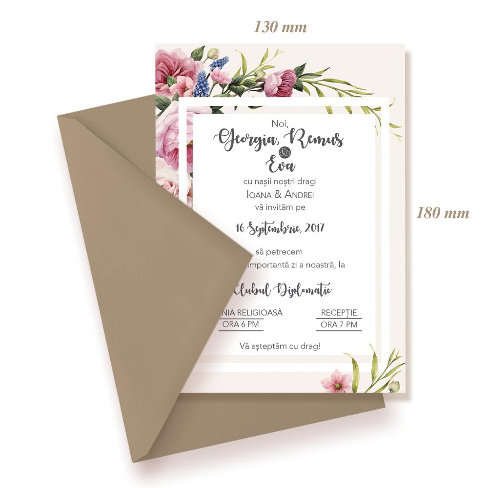 "Invitatie de nunta ""Flori"""