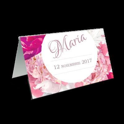 """Placecard de botez floral """"Baby flower"""""""