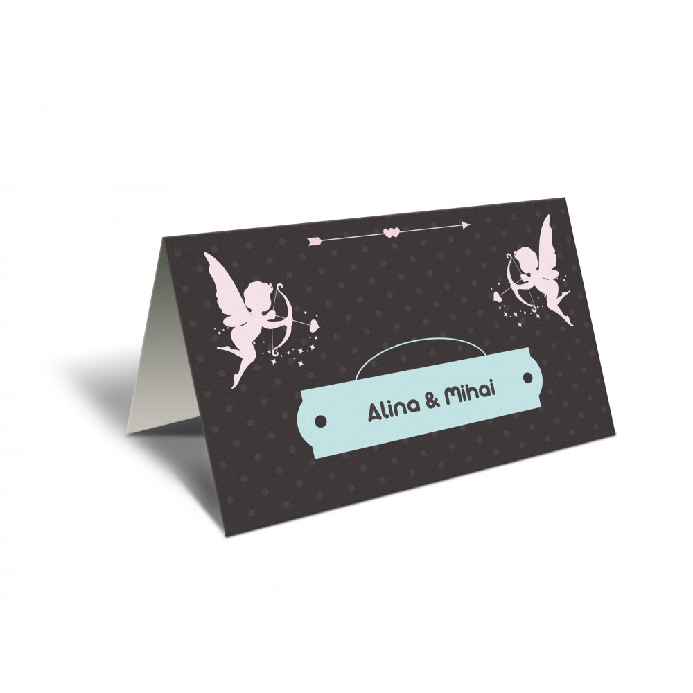 Placecard Brown Cupid