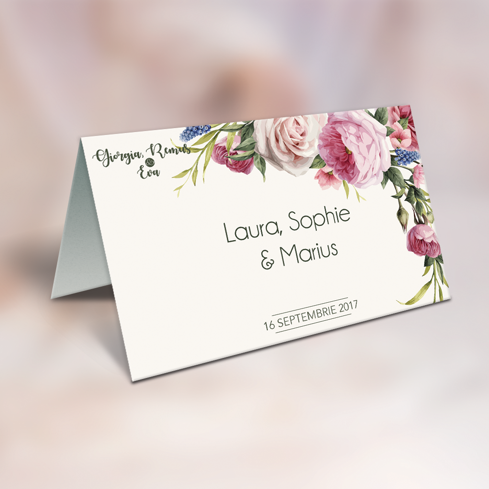 "Placecard "" Fresh Flowers"""