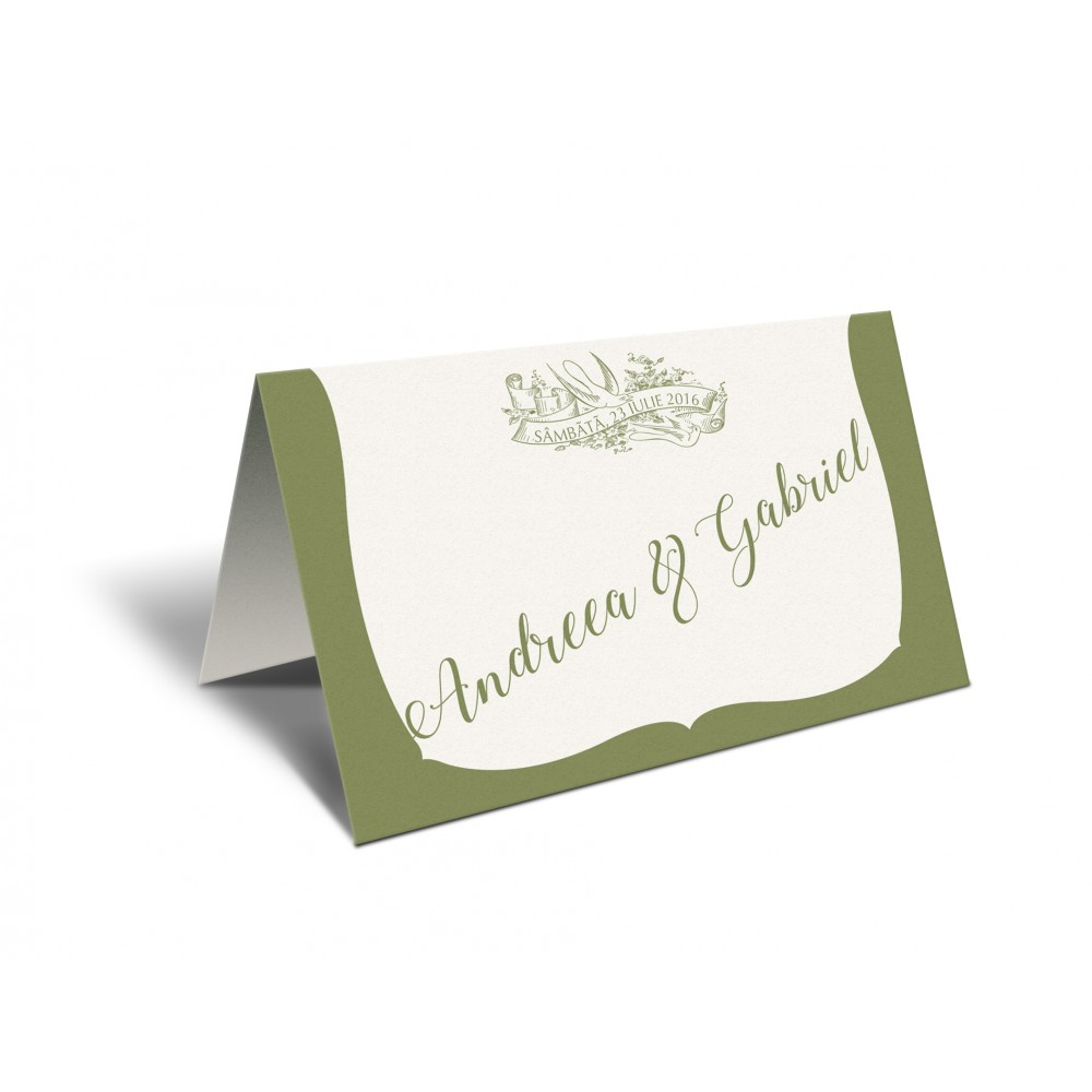 "Placecard "" Green Forest"""