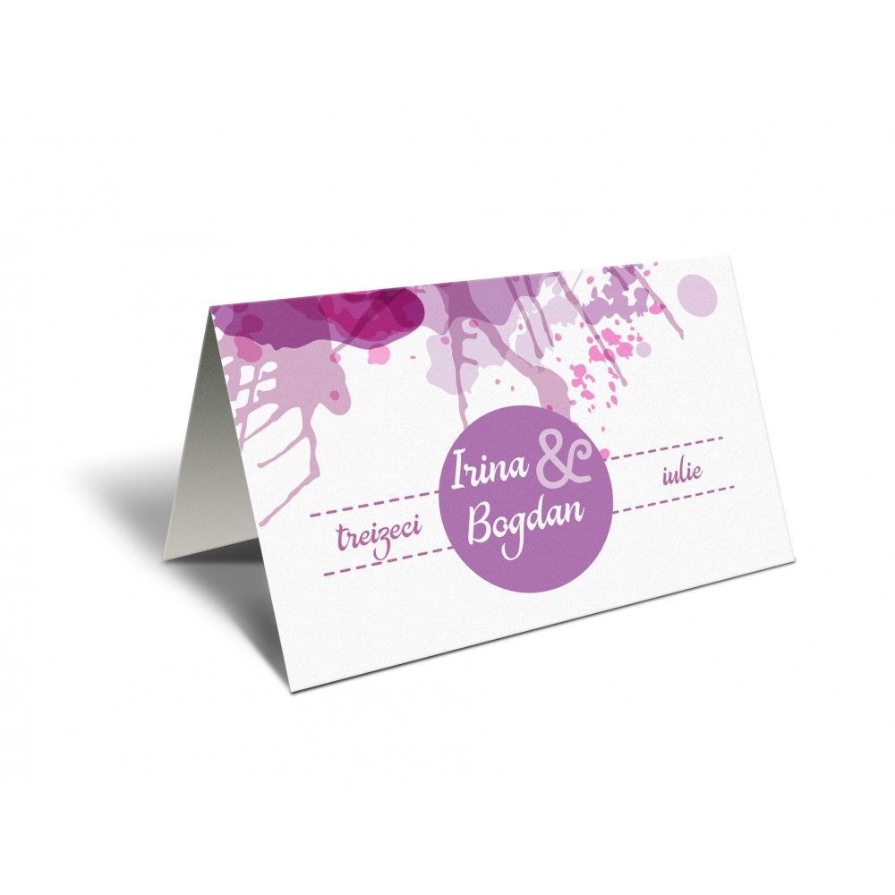 "Placecard "" Lily Ink"""