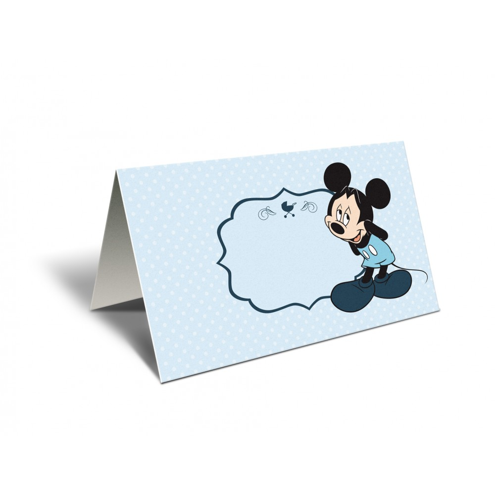 "Placecard ""Mickey blue"""