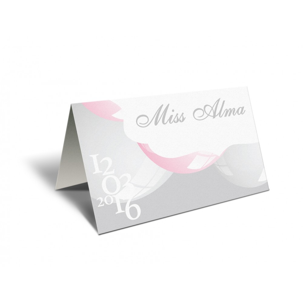 "Placecard ""Miss baby girl"""