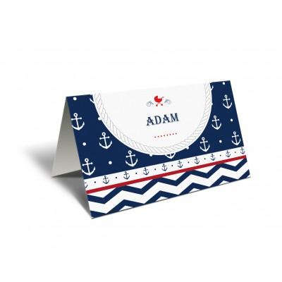 "Placecard  de botez ""Navy"""