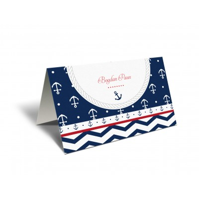 "Placecard ""Navy"""