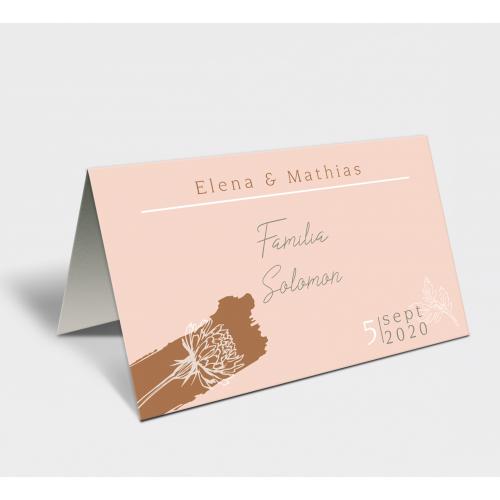 Placecard  de nunta BOHO PINK