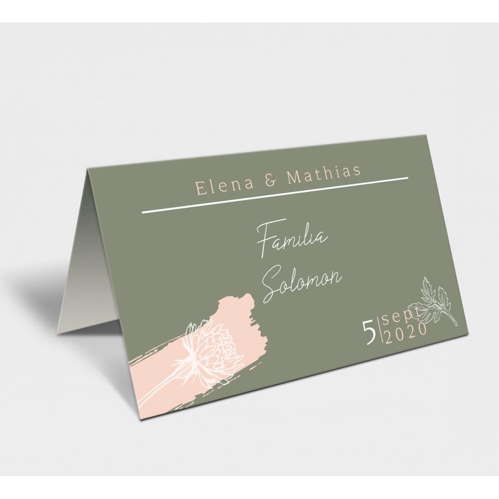 Placecard  de nunta BOHO GREEN