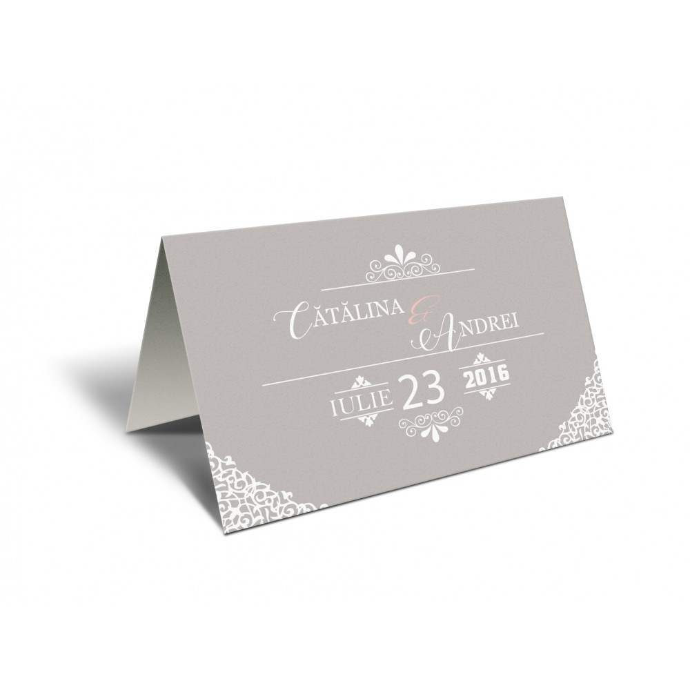 "Placecard ""Pink Grey"""