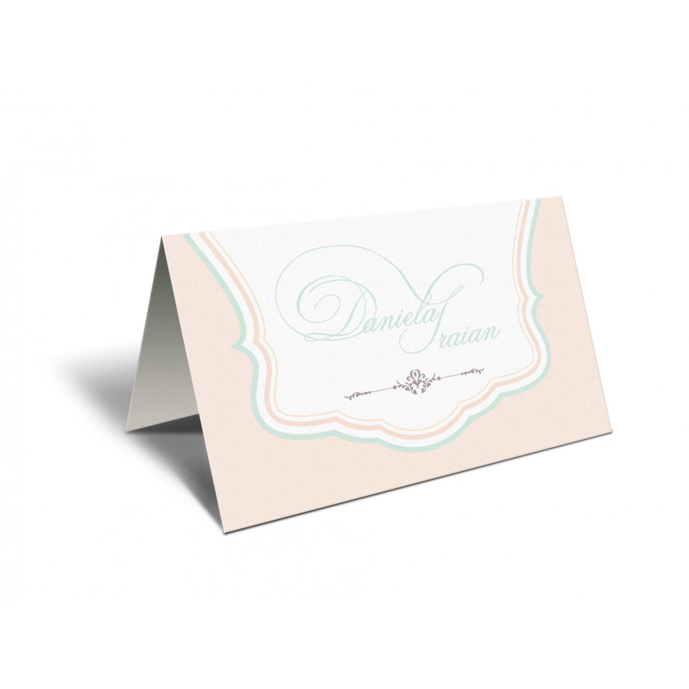 "Placecard "" Soft Colors"""