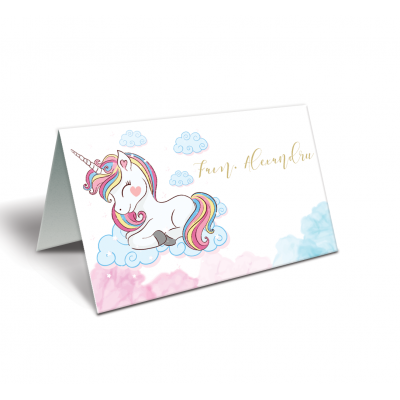 "Placecard botez ""Unicorn"""