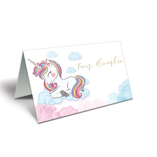 "Placecard botez ""Unicorn"""