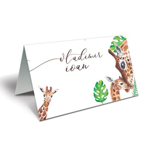 """Placecard pentru botez """" Geta girafa"""""""