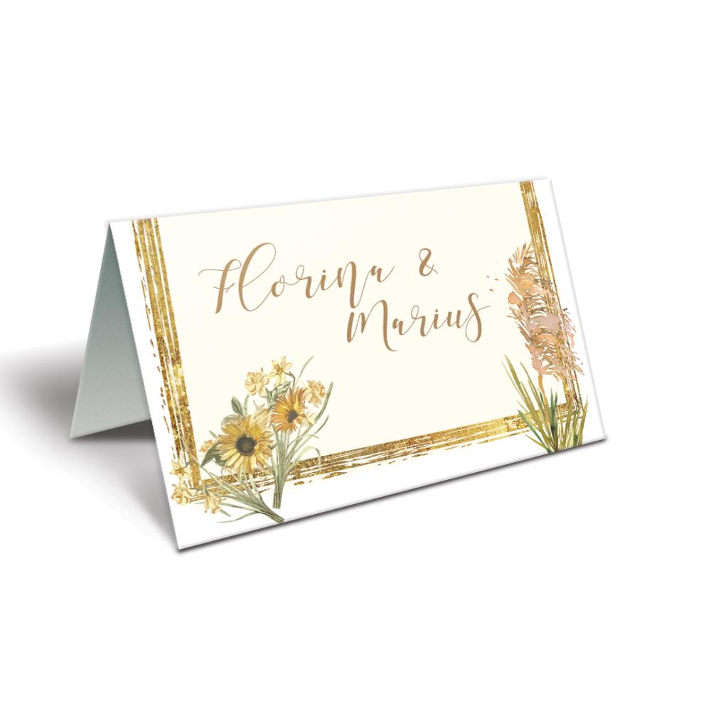 """Placecard de nunta """" Pampas"""""""