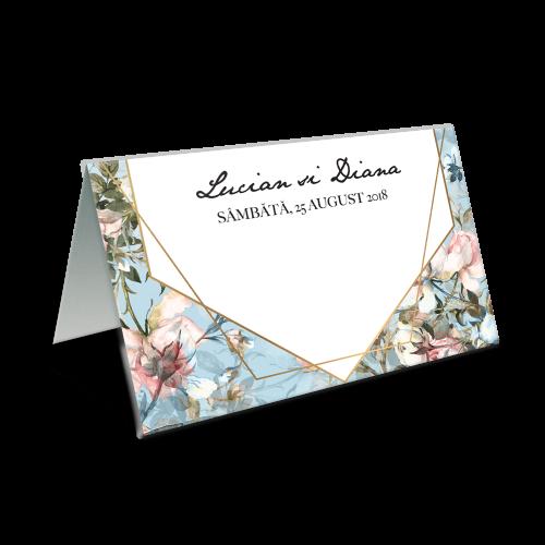 """Placecard de nunta """" Vintage blue"""""""